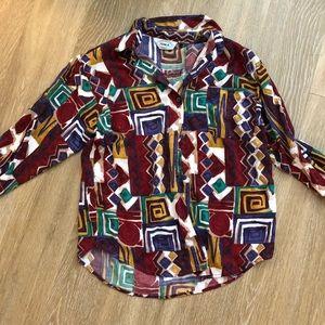Vintage colorful Button Down Shirt